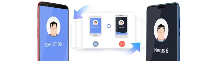 Depiction of easy phone data transfer