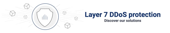 Graphic depicting Layer 7 DDoS protection