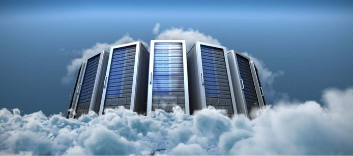 Illustration of servers in the cloud