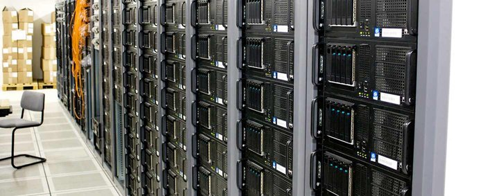 Image of servers in a datacenter