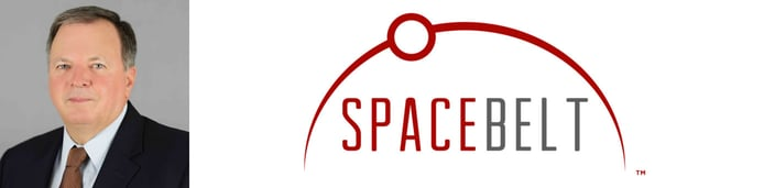 Dennis Gatens headshot and SpaceBelt logo