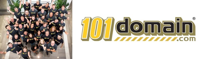 Image of the 101domain team and logo