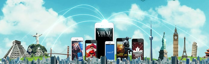 Viral Nation graphic depicting reach