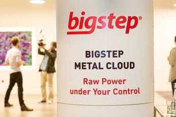 Photo of Bigstep sign at Big Data Week