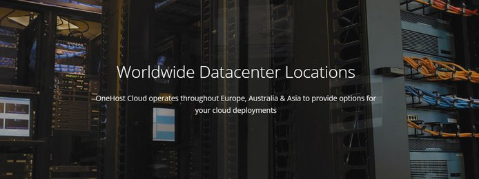 Screenshot from OneHost Cloud datacenter banner
