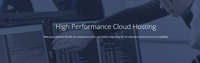 Screenshot of OneHost Cloud banner