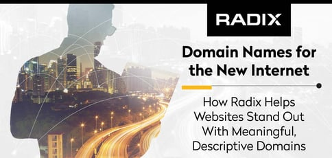 Domain Names for the New Internet: How Radix Helps Websites Stand Out With Meaningful, Descriptive Domains