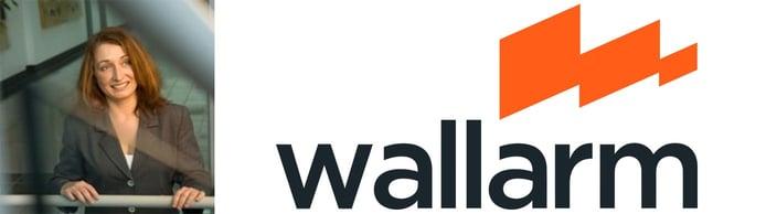 Image of CMO Renata Budko with the Wallarm logo