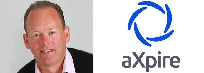 Gary R. Markham, CEO of aXpire, and logo