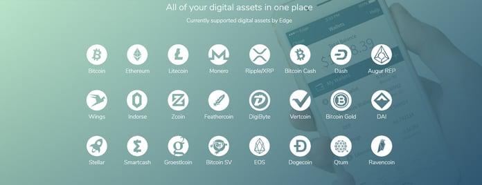 Support for multiple digital assets