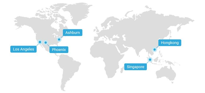 Screenshot of Krypt datacenter locations