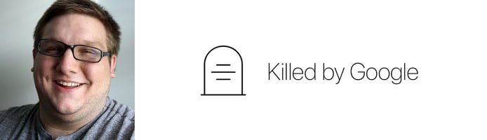 Headshot of Cody Ogden and Killed by Google logo