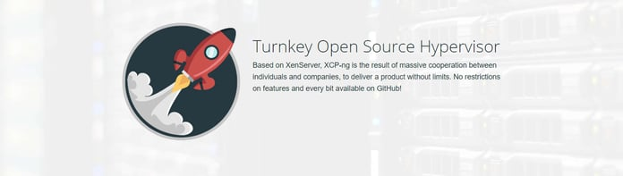 Graphic representing the turnkey open-source hypervisor