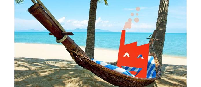 Sunny HQ logo on a hammock