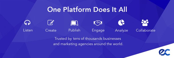 Image with icons depicting how one platform does it all