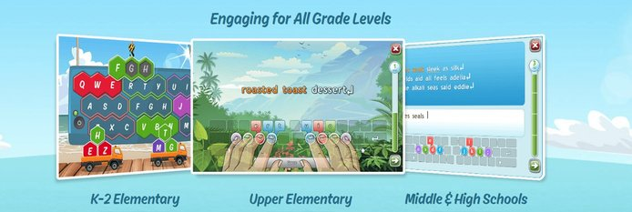 Illustrations of games for various grade levels