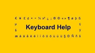 Keyboard help logo