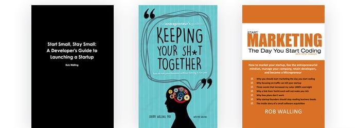 Three books by Rob Walling
