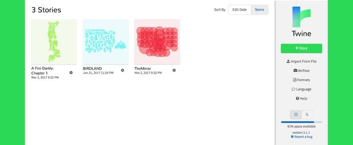 Twine screenshot