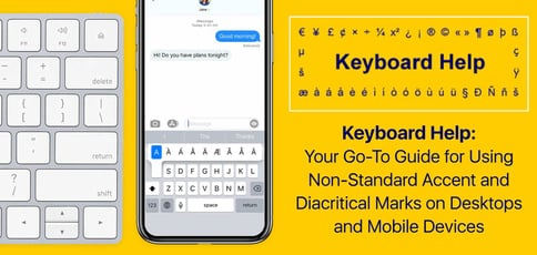 Keyboard Help Delivers Tips For Non Standard Marks