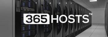 365Hosts logo and datacenter photo