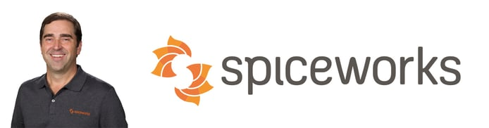 Co-Founder Jay Halberg and Spiceworks logo