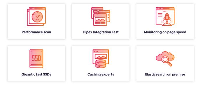 Screenshot of Hipex Magento services portfolio