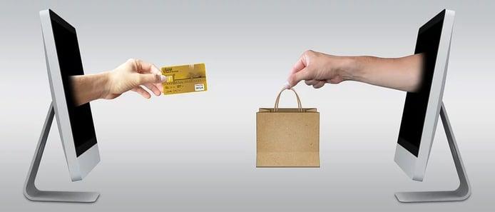Illustration of an ecommerce transaction
