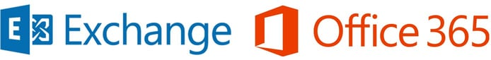Microsoft Exchange and Office 365 logos