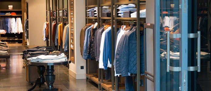 Image of a men's clothing boutique