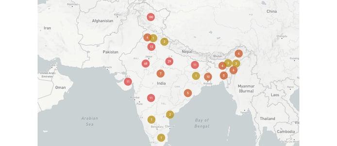 A map of internet shutdowns