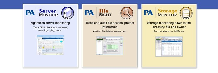 Screenshot of Power Admin offerings