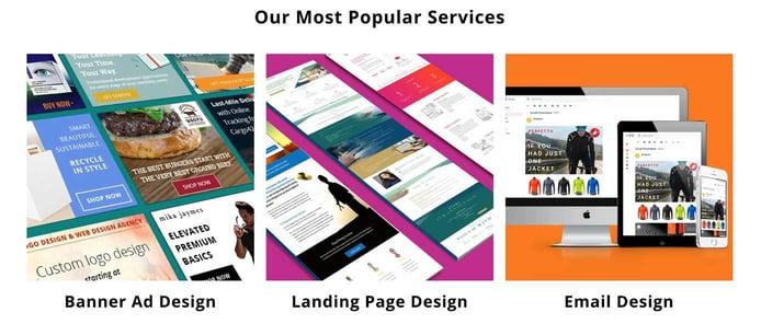 Screenshot of DesignPax offerings
