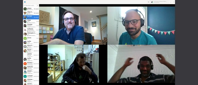 The SFL team in France and Canada working from home during Covid-19