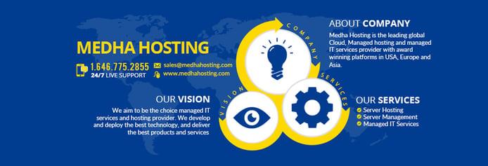 Image highlighting Medha Hosting's value propositions