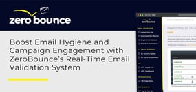 Boost Email Hygiene and Campaign Engagement with ZeroBounce's Real-Time Email Validation System