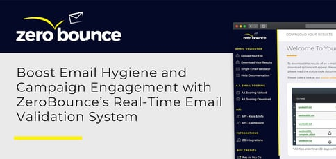 Zerobounce Delivers A Real Time Email Validation System