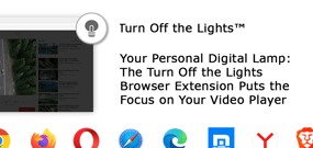 Your Personal Digital Lamp: The Turn Off the Lights Browser Extension Puts the Focus on Your Video Player