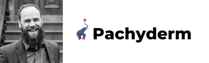 Headshot of Dan Jeffries, Chief Technology Evangelist and Pachyderm logo