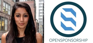 Ishveen Anand, CEO and Founder, and OpenSponsorship logo