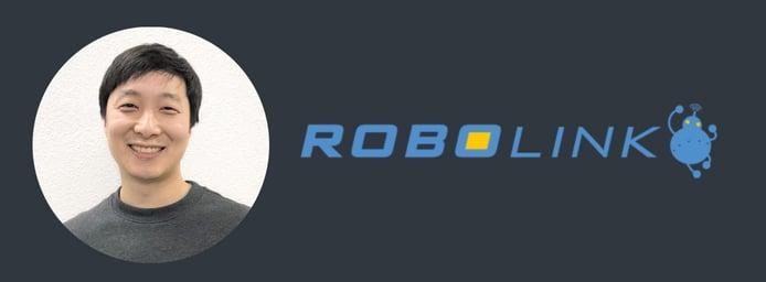 Hansol Hong, CEO of Robolink headshot and company logo