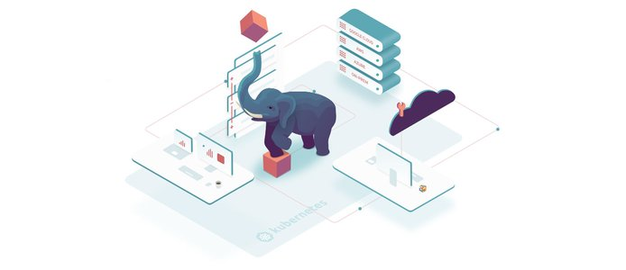 Pachyderm illustration showing Kubernetes association