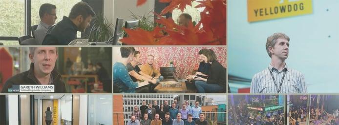 A collage of YellowDog internal photographs