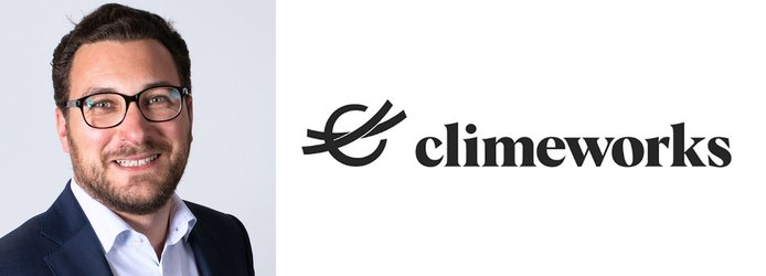 hristoph Beuttler, CDR Manager at Climeworks and logo
