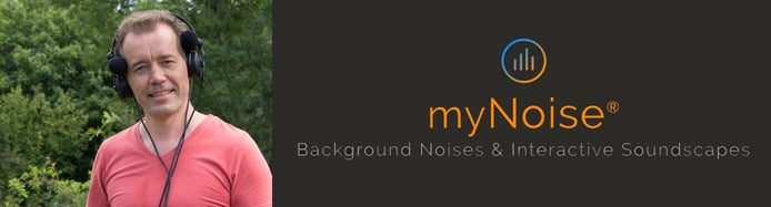 myNoise logo and founder