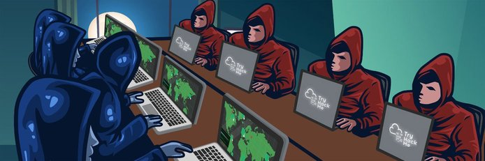 Depiction of ethical vs. malicious hackers