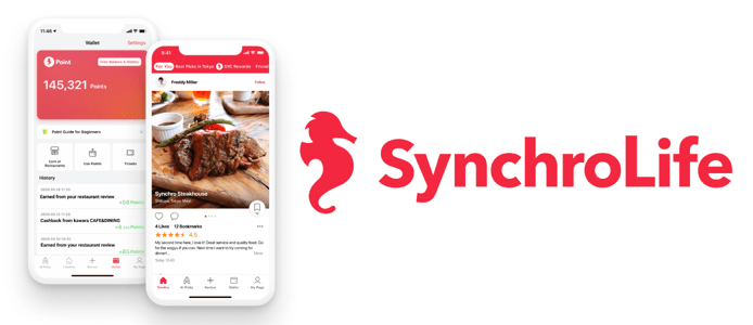 SynchroLife logo and device view
