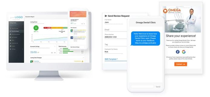 Screenshots of Vendasta interface
