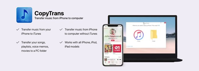 CopyTrans as shown on multiple devices