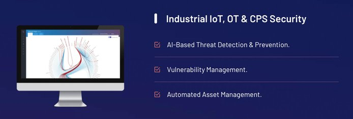 Graphic illustrating industrial OT and IoT solutions